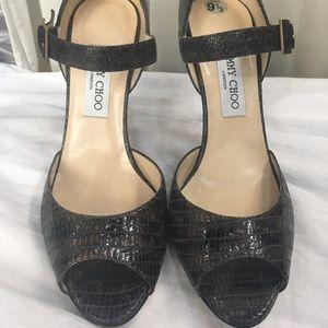 Jimmy Choo Shoes - Jimmy Choo croc print heels